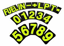 BG Racing Large Pit Board Number Set - Hi Vis Yellow