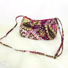 Vera Bradley Small Hobo Bag Floral Zipper shoulder hand bag paisley makeup