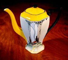 Very Rare Shelley Queen Anne Cottage Art Deco Coffee Pot 11604