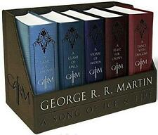 GAME OF THRONES BOX SET ~ A SONG OF ICE & FIRE 1-5 COMPLETE SERIES ~ LEATHER