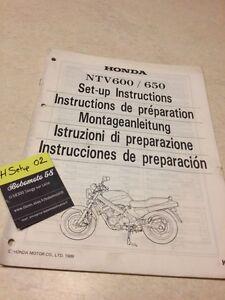 Honda NTV600 NTV650 NTV 600 650 Manual Preparación Configurar Configuración