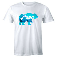 Papa Bear with Mountains and Trees T-Shirt for Men Outdoors Lover Gift for Dad