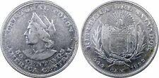 PCGS El Salvador 1892 Cam 50 Centavos Columbus Silver Coin Cleaned #1