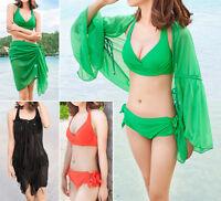 New Ladies Three Piece Bikini Set Swimwear Swimdress AU Size 6 8 10 12 14 #3014