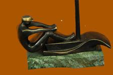 A Challenge Trophy für The Best Rower Of Bronze Skulptur Statue Dekoration