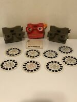 Lot Of 3 Vintage Viewmasters And 8 Slides Gaf Sawyers 3D