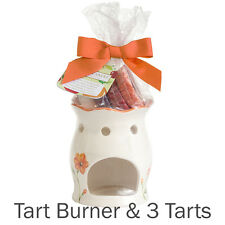 YANKEE CANDLE tart warmer GIFT SET includes 3 FRUIT TARTS orange oil burner