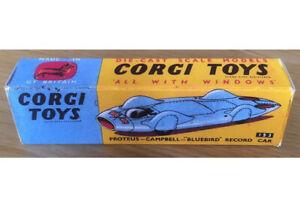 Corgi 153 Proteus-Campbell Bluebird Record Car Empty Repro Box Only