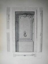 GRANDE PLANCHE XX° ARCHITECTURE STYLE LOUIS XIV BAROQUE RUE GUILLAUME PARIS