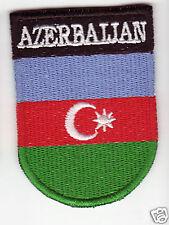 AZERBAIJAN Flag  Country Patch Shield Style