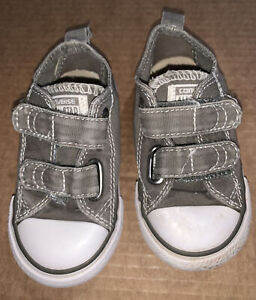 Converse All Star Infant Size 6 Gray Shoes - Pre-owned