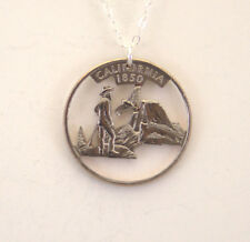 California Cut Out Coin Jewelry, Necklace