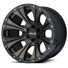 """HELO HE901 TINT 17x9 Wheels TOYO AT Tires Package 8x6.5 33"""" Chevy RAM Dodge"""