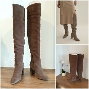 NEW COUNTRY ROAD Viola Slouch Boot SIZE 36 EU   Brown Suede BRAND NEW   RRP$349