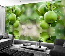 3D Fresh Fruit Apple Self-adhesive TV Background Mural Wallpaper Wall Decal
