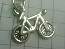 """TIBETAN SILVER PENDANT TINY """"CYCLE (PUSHBIKE)"""" ON 18"""" NECKLACE   CHAIN"""