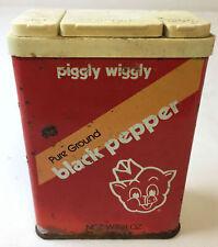 PIGGLY WIGGLY black pepper tin