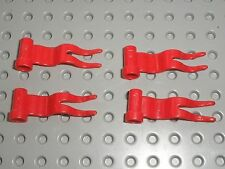 4 x Drapeau LEGO castle red flag ref 4495 / Set 6090 6085 6080 10176 6096 6086..