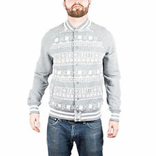 Men's UNDEFEATED Ascender Varsity Jacket Grey and White size L (T25) $118