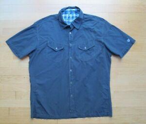 Kuhl Eluxur Men's XL Button Down Short Sleeve Shirt Gray Hiking Outdoor