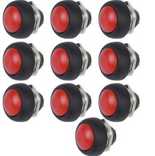 10 pcs Red 12mm Waterproof Momentary ON/OFF Push Button Mini Round Switch