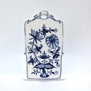 Antique Meissen Porcelain Blue Onion Pattern Cheese and Cracker Board - CHOP PC
