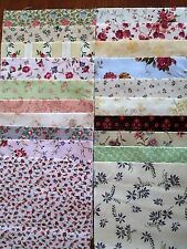 40 x 5' CHARM SQUARES 2 X20 Dainty Flowers 100% Cotton Fabric Sewing Material N4