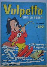 VOLPETTO VIVA LA PESCA SUPPLEMENTO A CAROSELLO ALLEGRO ANNO II N.6 1956