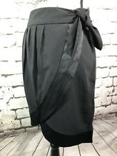WORTHINGTON Petite Black Skirt with Bow - Women's Size 12P EUC  *MUST SEE*