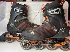 K2 FIT X Pro M In-Line Skates Rollerblades Mens Size 10 Speed Lacing Black