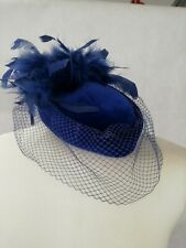 vintage hat with veil and feathers by Faye Modes