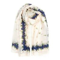 Fashion Women Lady Girls Soft Long Silk Scarf Floral Wrap Shawl Hair Scarves New
