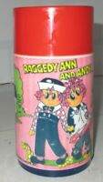Vintage 1973 Raggedy Ann and Andy Aladdin Lunchbox Thermos Bobbs-Merrill Co