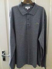Lacoste Men's Long Sleeve Polo Top Shirt Size 8 3XL Grey BNWT