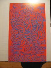 BLUES INTERCHANGE- ORIGINAL 1967 CONCERT POSTER-Retinal Circus Vancouver-RARE!!
