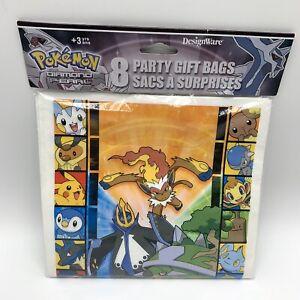 New Old Stock 2008 - 8 Pokemon Diamond Pearl Birthday Party Loot Gift Treat Bags