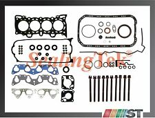 Fit 92-95 Honda D15Z1 D16Z6 SOHC VTEC Engine Full Gasket Set w/ Head Bolts Kit