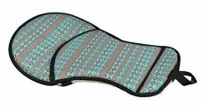 Showman Teal Brwn Navajo Seat Cushion Trail Riding Saddle Pad Relieves Back Pain