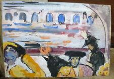 Toréador dans une arene grand panneau datant des années 1960 ambrogiani