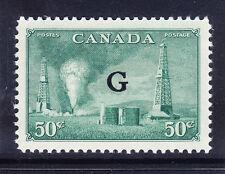 """Canada GIORGIO VI 1950 SGO188 50c OPT VERDE """"G"""" - unmounted Nuovo di zecca. catalogo £ 20"""