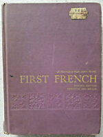 1970 FIRST FRENCH Le Francais Non Sans Peine by Paul Barrette & Theodore Braun