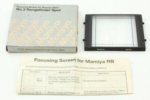 [MINT in BOX] Mamiya Focusing Screen No 3 Rangefinder Spot RB67 Pro S SD JAPAN