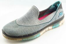 Skechers Size 8.5 M Gray Loafer Fabric Women Shoes