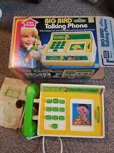 Vintage Sesame Street Big Bird Talking Phone~1982~Rare~