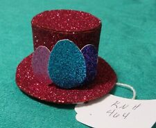 Rose Sparkle Paper Easter Top Hat w White Band & 3 Eggs  Ken Barbie Doll KNH464