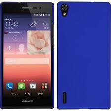Funda Rígida Huawei Ascend P7 - goma azul + protector de pantalla