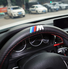 BMW M Sport Carbon Fiber Sport Car Steering Wheel Cover Interior Accessory New