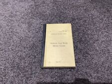 WW2 1944 AUSTRALIAN MILITARY FORCES VEHICLE LOG MOTORCYCLES NOT USED