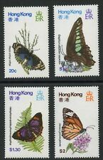 Butterflies set of 4 mnh stamps 1979 Hong Kong #354-7