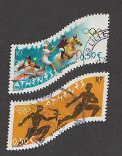 France -Timbres oblitérés - JO d'Athènes - N°3686 et 3687 -2004